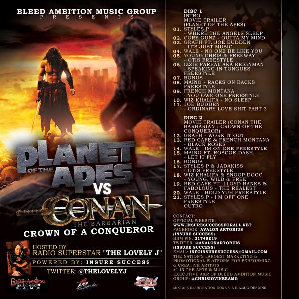 BAMG Presents: Planet of the Apes vs. Conan the Barbarian #mixtapebanger