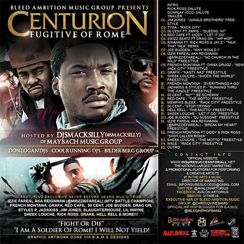 """Bleed Ambition Music Group presents: Centurion """"Fugitive of Rome"""" (Mixtape)"""