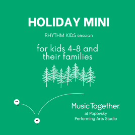 Rhythm Kids Holiday Mini Session for kids 4-8 | Outdoor/Online Hybrid Class