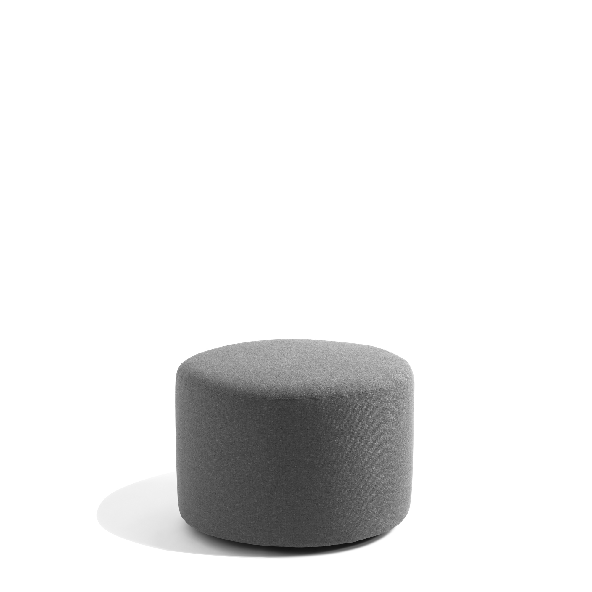 dark gray block party lounge round ottoman 24 office furniture poppin