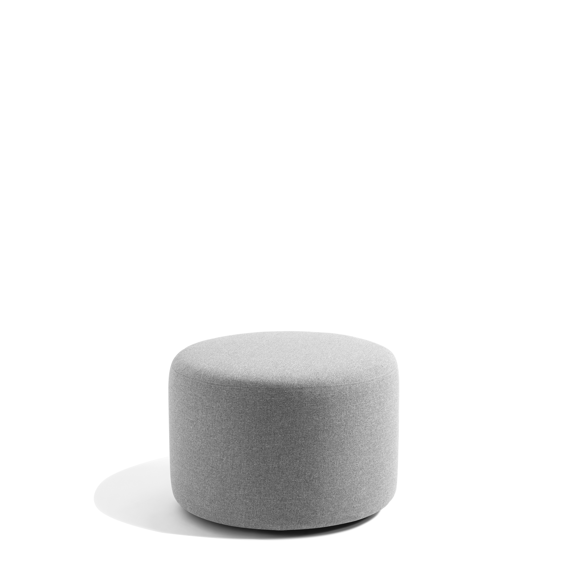 gray block party lounge round ottoman 24 office furniture poppin