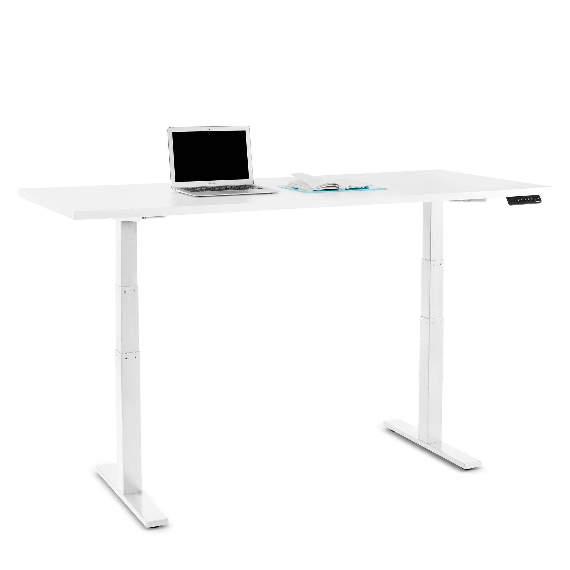 Series L Adjustable Height Table White Legs Adjustable Height Desks Poppin