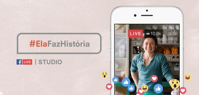 Flávia Durante no Facebook #ElaFazHistória no Studio Live nesta quinta-feira