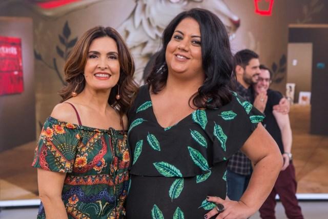 Veja a Flávia Durante no Encontro com Fátima Bernardes