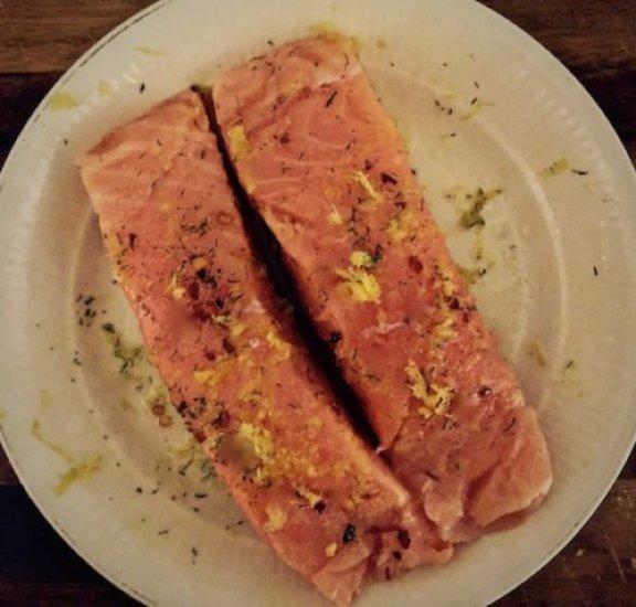 Lemon Zested Grilled Salmon poppopcooks.com