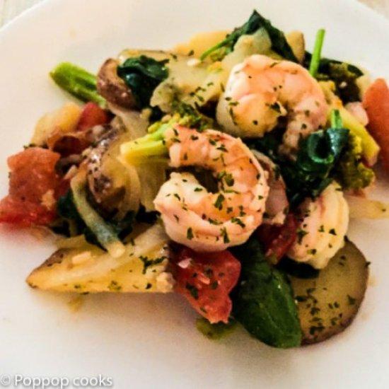 One Pan Shrimp and Veggies-8-poppopcooks.com