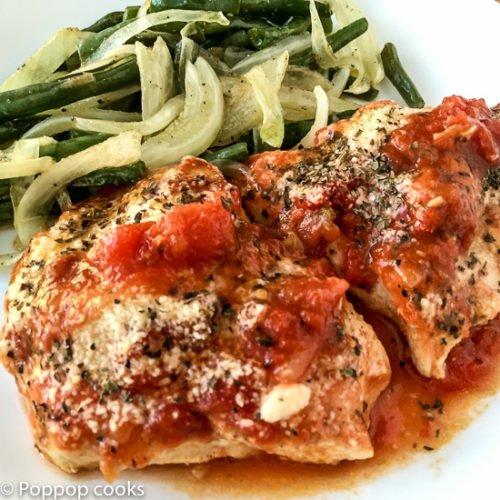 Fast Stovetop Chicken Parmesan-5-poppopcooks.com