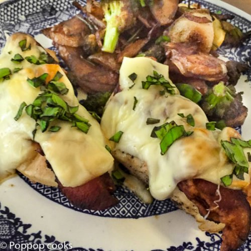 Chicken Tenders Topped with Bacon and Mozzarella-7-poppopcooks.com