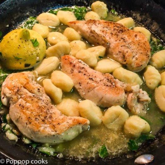 Garlic Lemon Butter Chicken with Gnocchi-4-poppopcooks.com