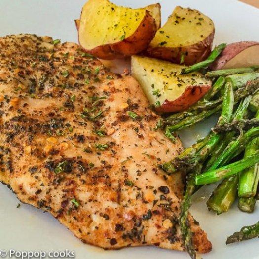 One Pan Oven Baked Chicken Dinner-5-poppopcooks.com