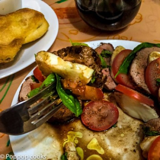 Pork Tenderloin Caprese Salad-7-poppopcooks.com