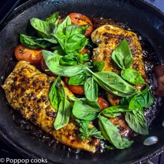 Sauteed Chicken Caprese Style-5-poppopcooks.com