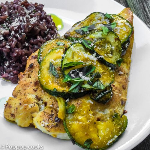 Sauteed Chicken with Zucchini-4-poppopcooks.com