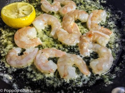 Sauteed Shrimp with Lemon Garlic and Butter-2-poppopcooks.com