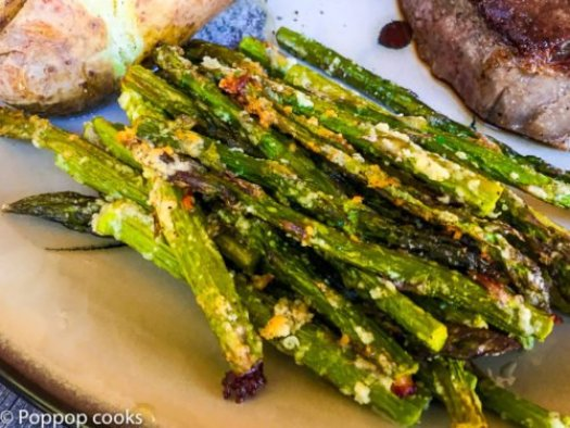 Baked Parmesan Crusted Asparagus-5-poppopcooks.com