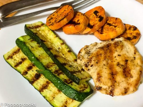 Quick Easy Grilled Chicken Dinner one pot stovetop-5-poppopcooks.com