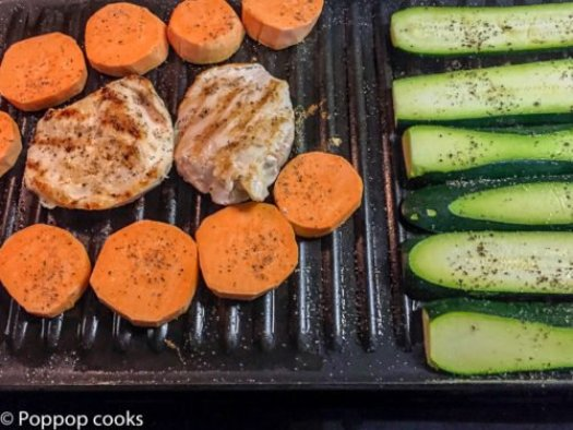 Quick Easy Grilled Chicken Dinner-poppopcooks.com
