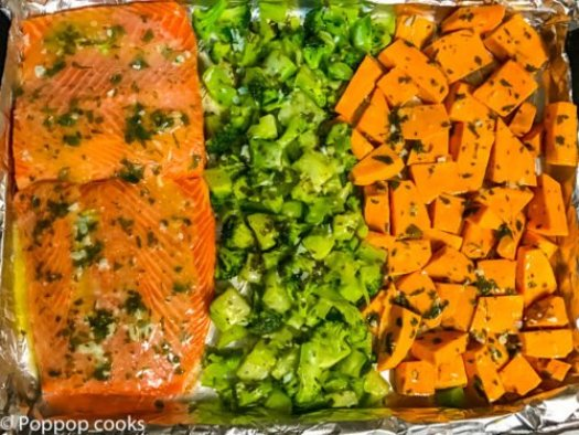 One Pan Salmon Dinner-3-poppopcooks.com-one pot-gluten free-quick and easy