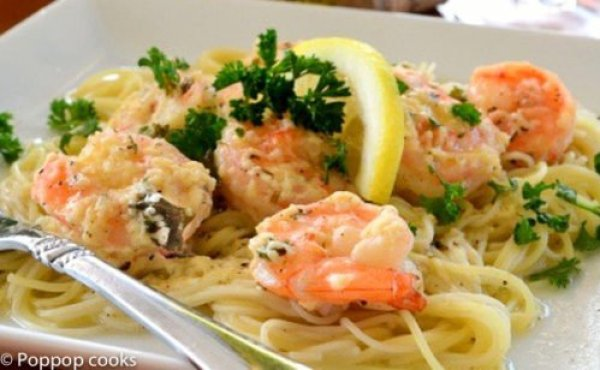 Shrimp Scampi-poppopcooks.com-quick and easy recipes-shrimp recipes-Italian recipes