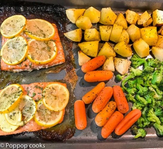 Baked Salmon Weeknight Dinner-2-poppopcooks.com-salmon recipes-baked salmon recipe-salmon recipes baked-bake salmon-recipes for salmon-easy salmon recipes