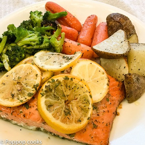 Baked Salmon Weeknight Dinner-3-poppopcooks.com-salmon recipes-baked salmon recipe-salmon recipes baked-bake salmon-recipes for salmon-easy salmon recipes