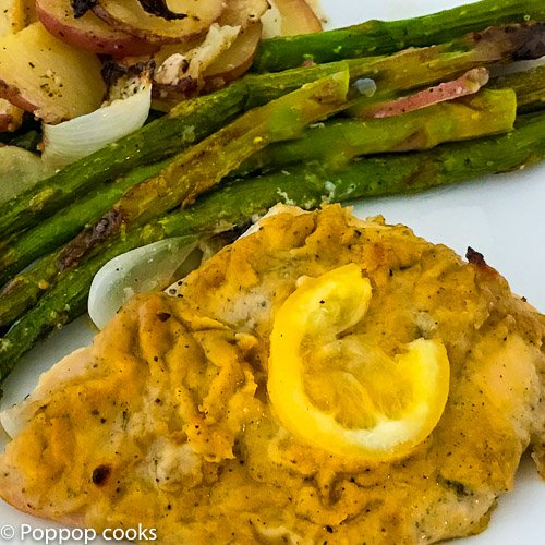 baked chicken breasts with hummus-3-poppopcooks.com-chicken breast recipes-gluten free-paleo-quick and easy