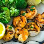 Pan Seared Shrimp with Lemon and Garlic-5-poppopcooks.com-quick and easy recipes