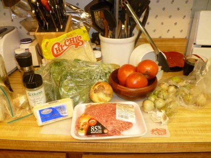 Taco & Tomatillo Sauce ingredients