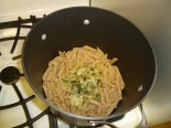 Onion mix on pasta