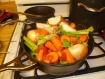 Veggies & Herbs Over Bones