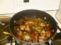 Boiled Bones, Herbs & Vegetables
