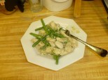 Velvet Chicken With Asparagus Over Rice