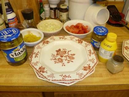 Pickles, Banana Peppers, Onion, Tomato, Relish, Mustard & Celery Salt