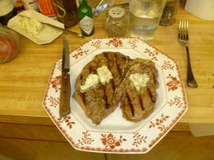 Porterhouse With Garlic Butter