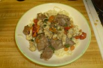Stir-Fried Cumin-Scented Beef With Vegetables Plated