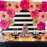 Kate Spade Bridal Shower + Tips For Making Giant Paper Flowers