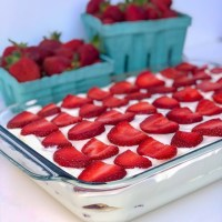 The Perfect Summer Dessert - No-Bake Strawberry Icebox Cake