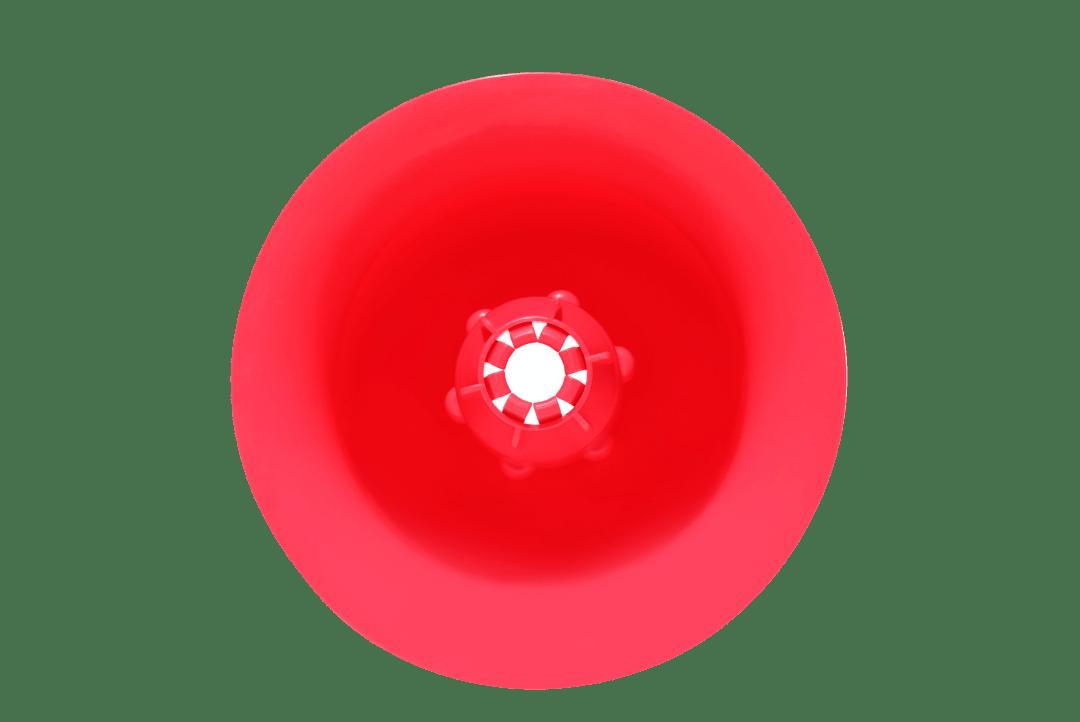 PoppyBeach rouge vu du dessus