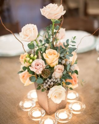 Shades of Pink and Peach Centerpiece