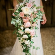 Soft Colors Cascading Bouquet