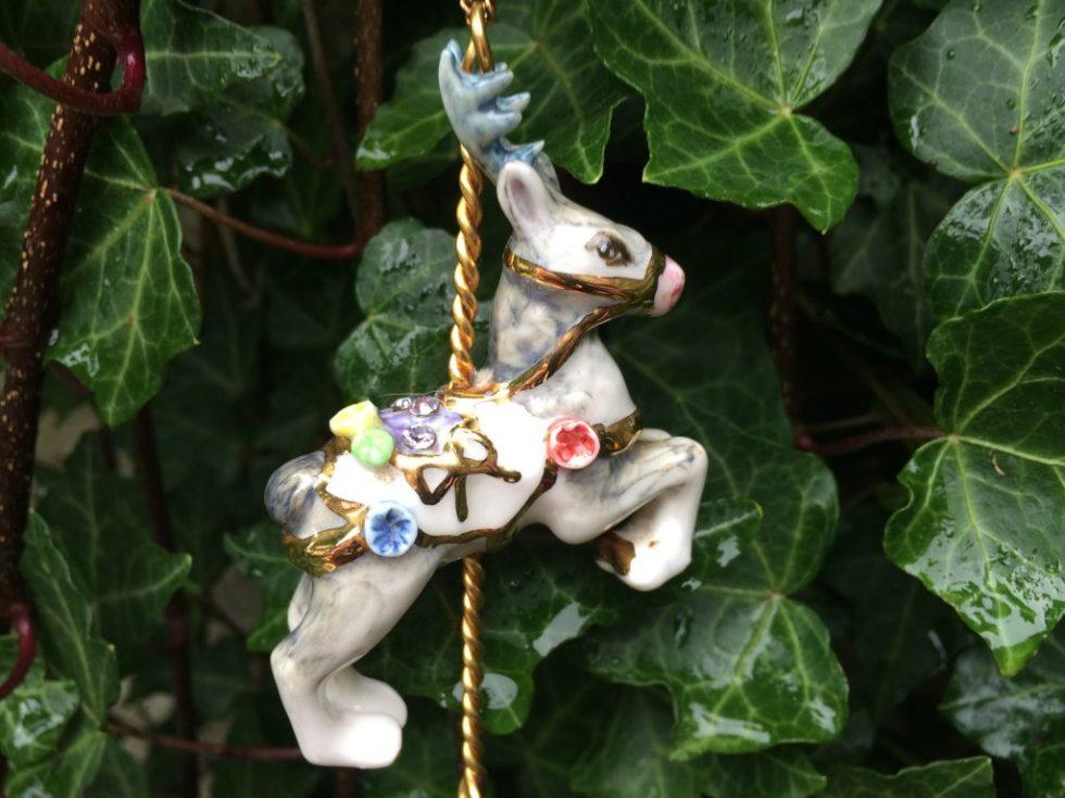 Reindeer Necklace by Hop Skip and Flutter