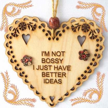 Wooden Hanging Heart I'm Not Bossy