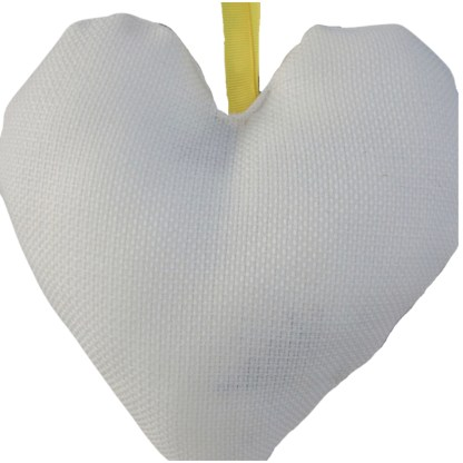 Padded Hanging Heart - Bee, embroidered gift