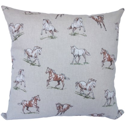 Brown Horses design Scatter Cushion, home decor gift