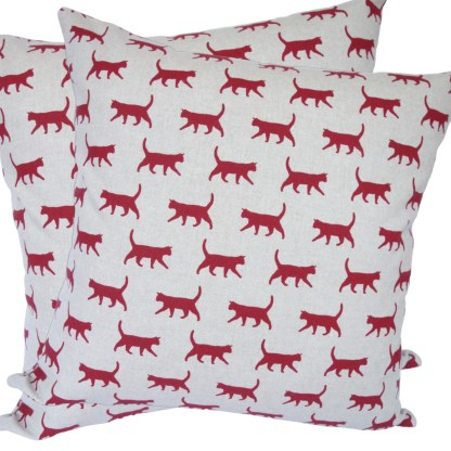 Red Cats Scatter Cushion
