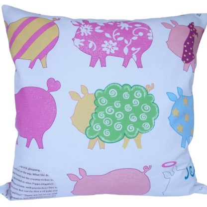 Bright Pigs Scatter Cushion, home decor gift