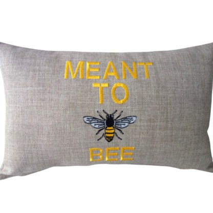 Meant To Bee Embroidered Cushion