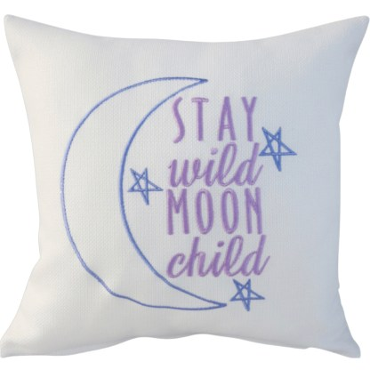 Moon Child Embroidered Cushion