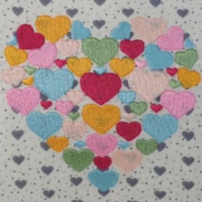 Heart of Hearts Embroidered Oblong Cushion - unique home gift