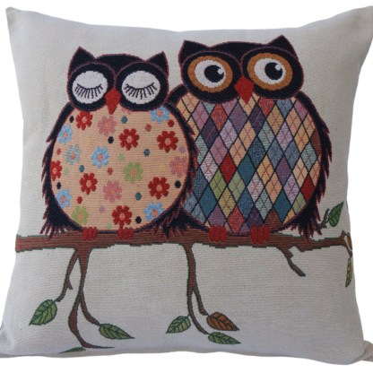 Patterned Owls Feature Cushion - home decor gift